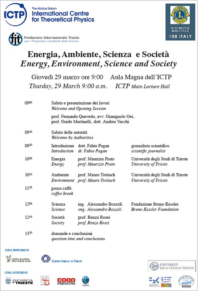 Energia, Ambiente, Scienza e Società