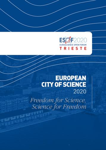 Trieste ESOF 2020 Dossier candidatura